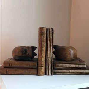 Other - Rustic wooden book ends